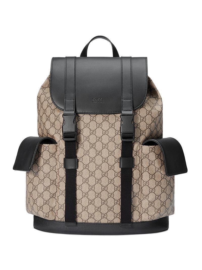 Lyst - Sac à dos Suprême GG Gucci pour homme en coloris Marron 5dd4df70cd9