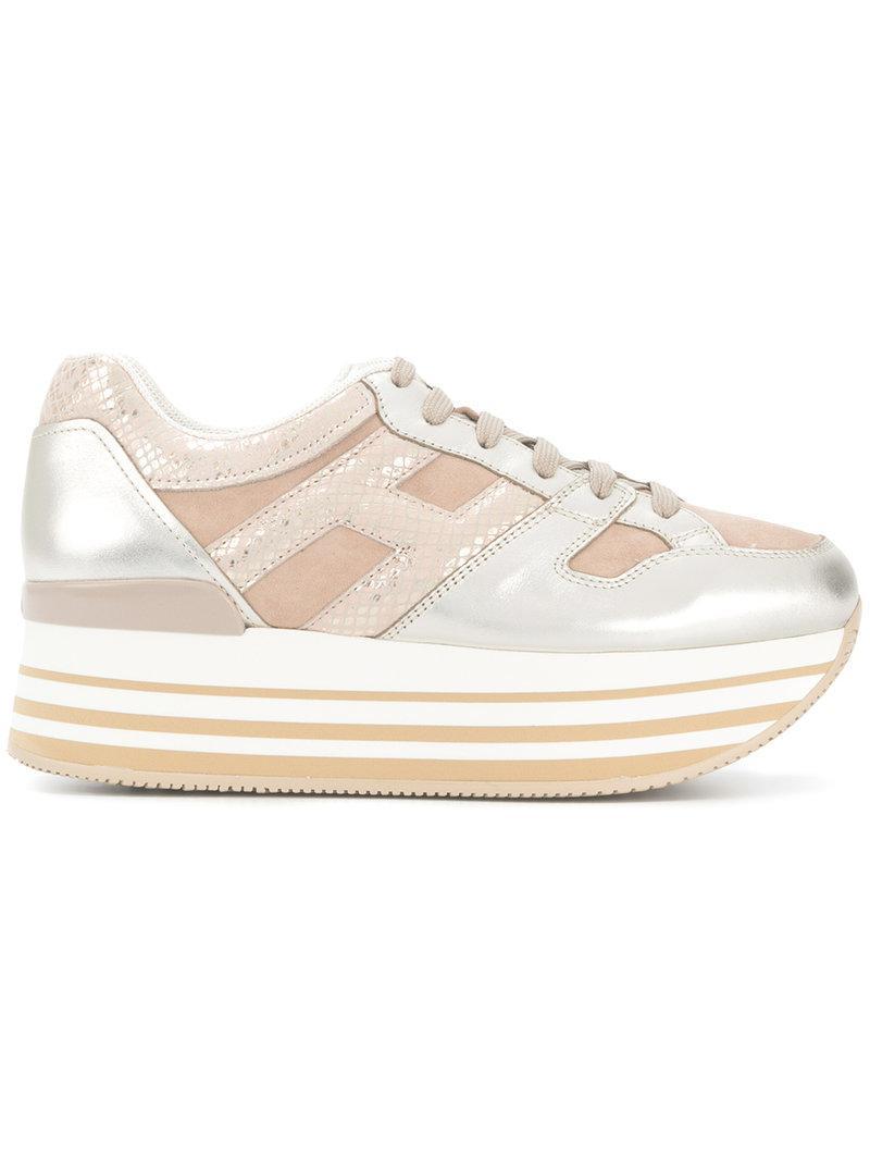 Hogan Chaussures De Sport Haut De Plate-forme - Métalliques c2E7kdcKx