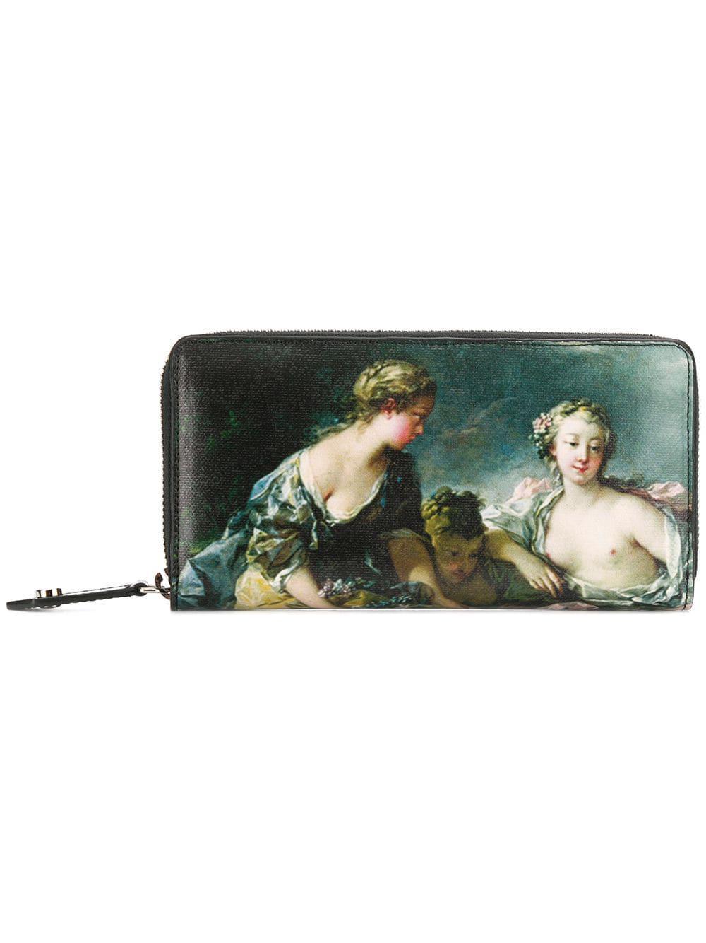 5876ecdfb6c Vivienne Westwood Printed Zip Around Wallet in Green - Lyst