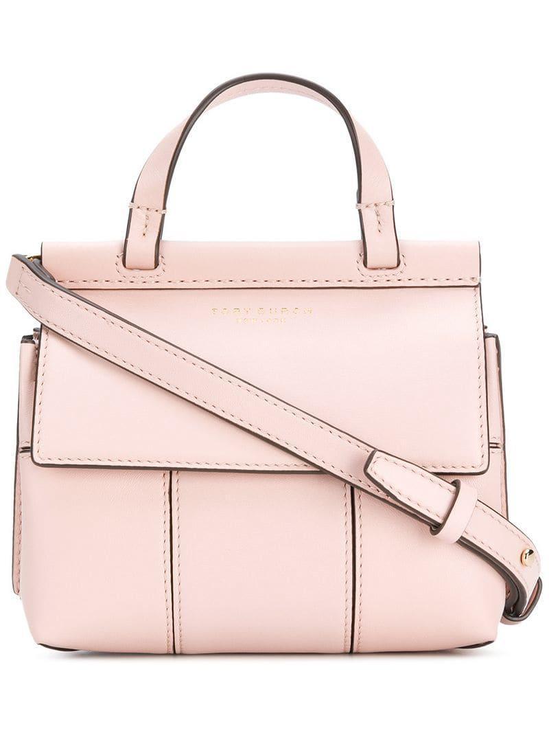 19247bd399a Lyst - Tory Burch T Mini Satchel Bag in Pink - Save 28.66666666666667%