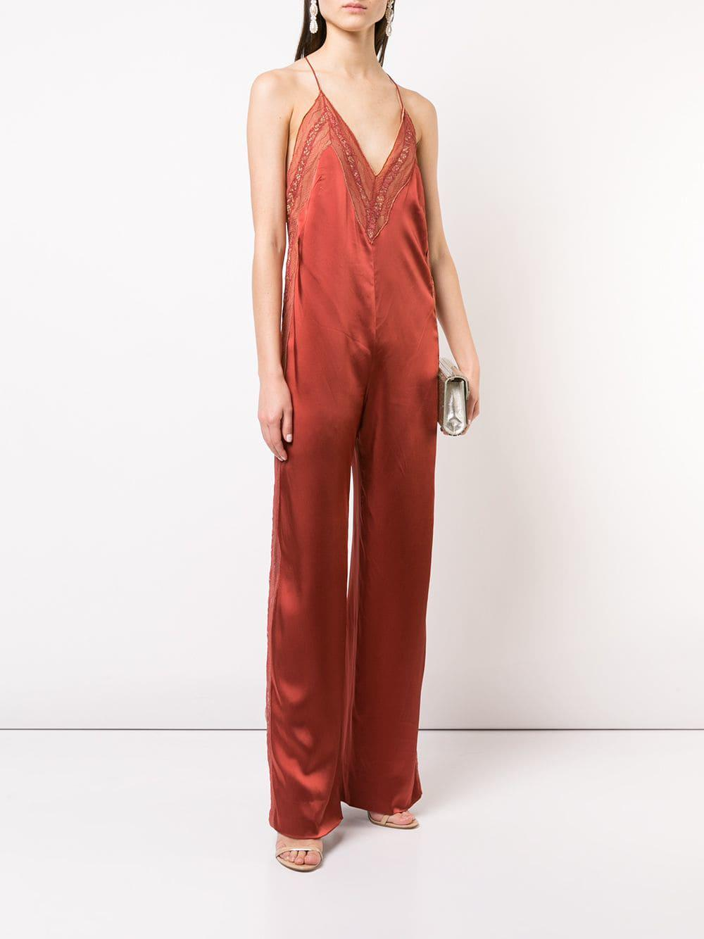 a3f1ac740717 Lyst - Jonathan Simkhai Deep V-neck Jumpsuit in Red