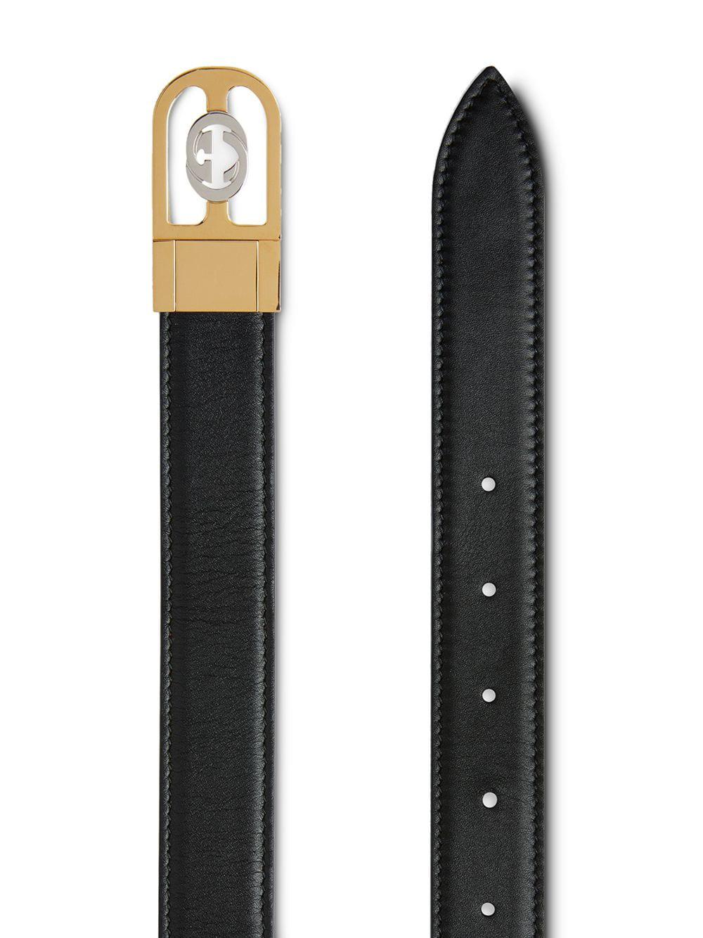 750408166e9 Gucci Reversible Belt With Interlocking G Buckle in Black for Men - Lyst