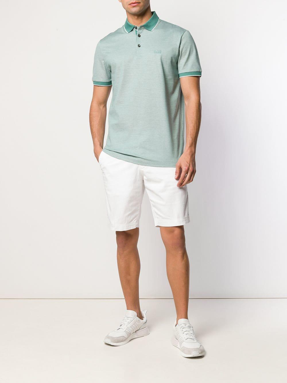 6286665c BOSS Prout Polo Shirt in Green for Men - Lyst