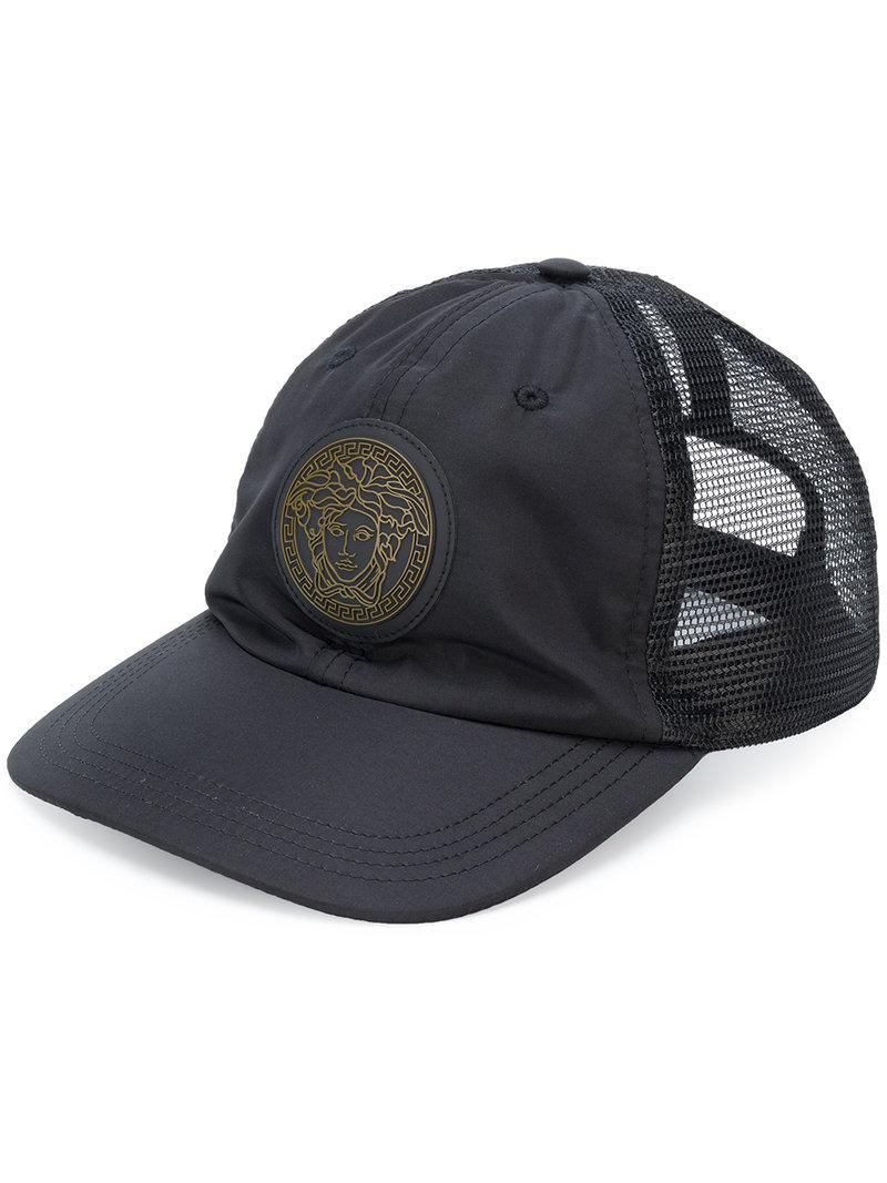 962b91d137c Lyst - Versace Mesh-panelled Baseball Cap in Black for Men