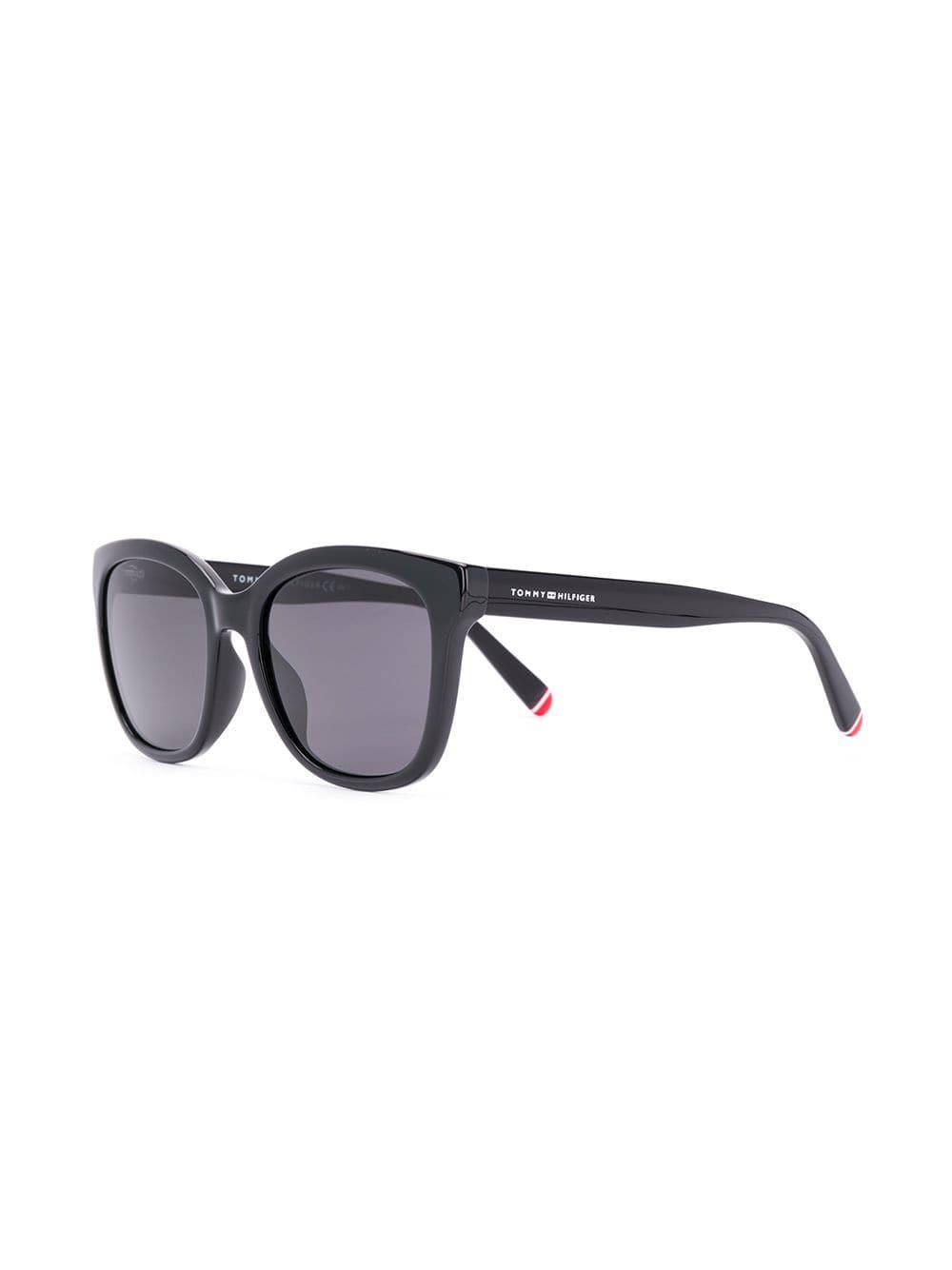 496ca379173 Tommy Hilfiger - Black Square Frame Sunglasses - Lyst. View fullscreen