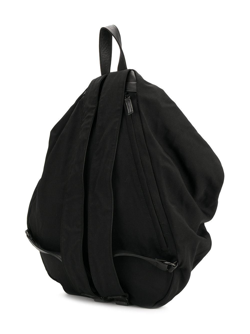 Yohji Yamamoto Drawstring Draped Backpack in Black for Men - Lyst 2ebee0e8fa