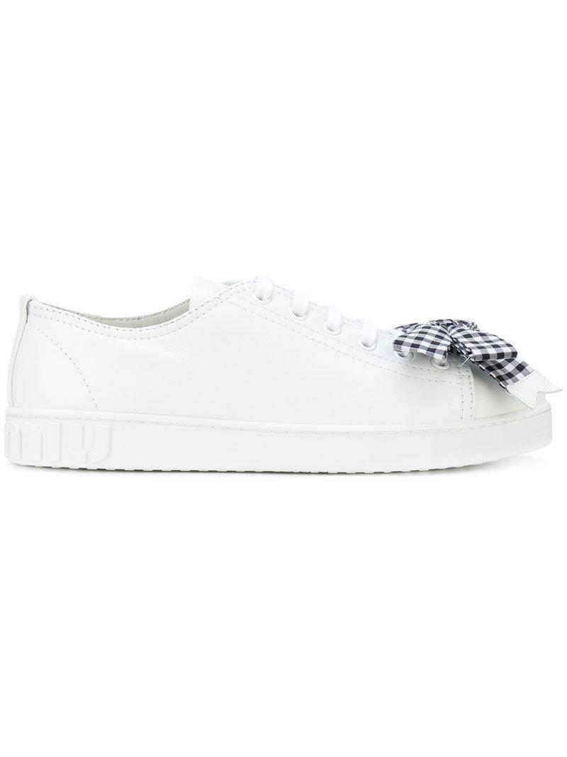 bow sneakers - White Miu Miu vtIGz3Foj