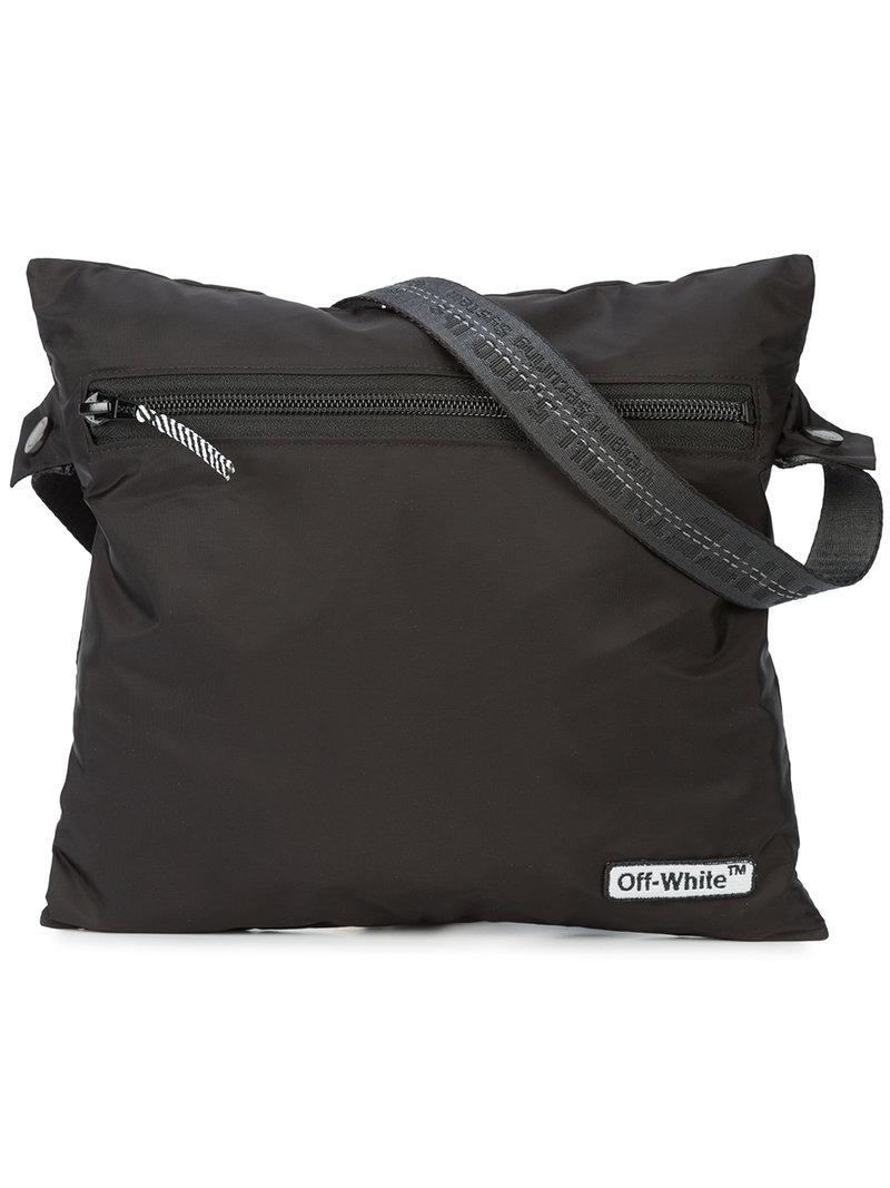 9f9d74d36342 Off-White C O Virgil Abloh Zipped Logo Shoulder Bag in Black for Men ...