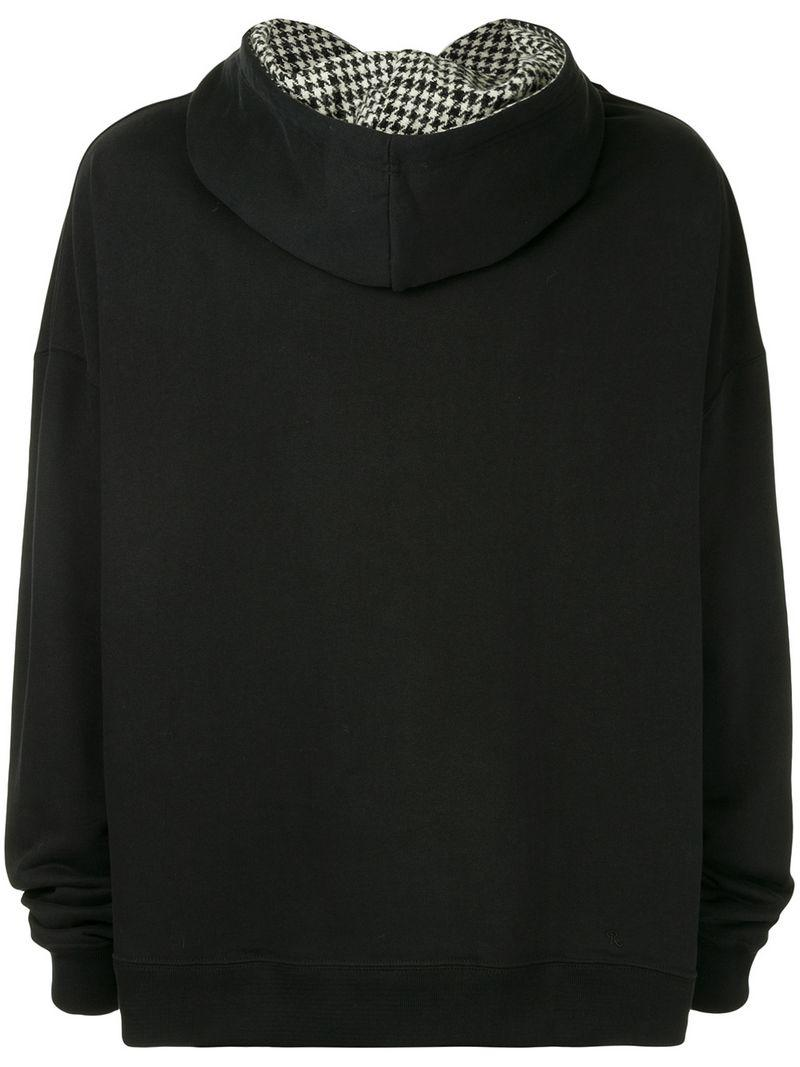 Lyst - Raf Simons Oversized Hoodie in Black for Men ef4578505