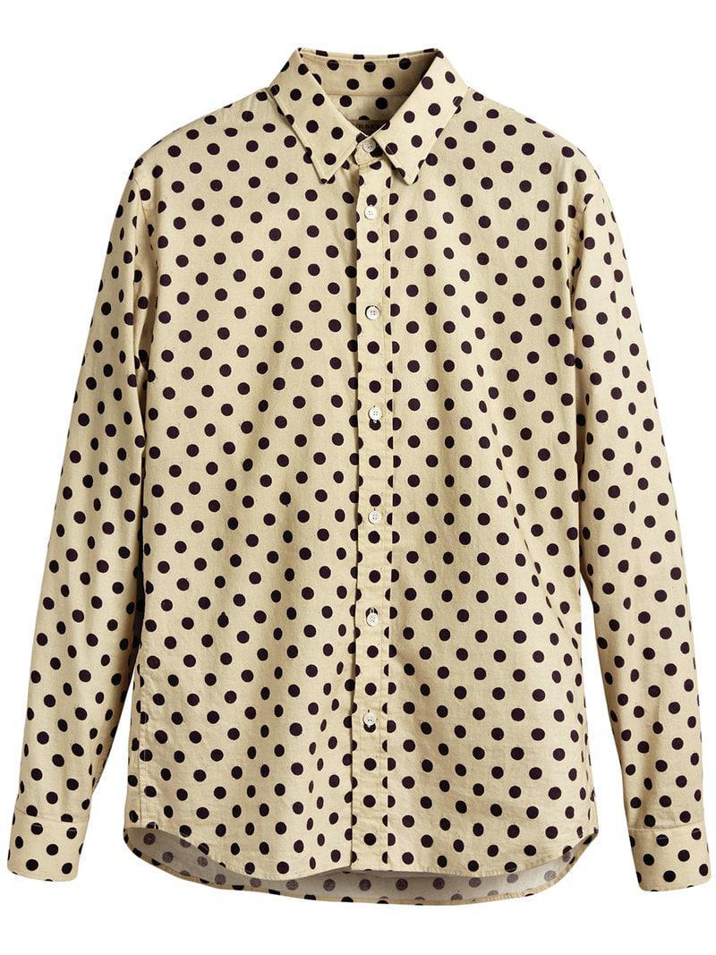 e53b346f Burberry Polka-dot Cotton Shirt for Men - Lyst