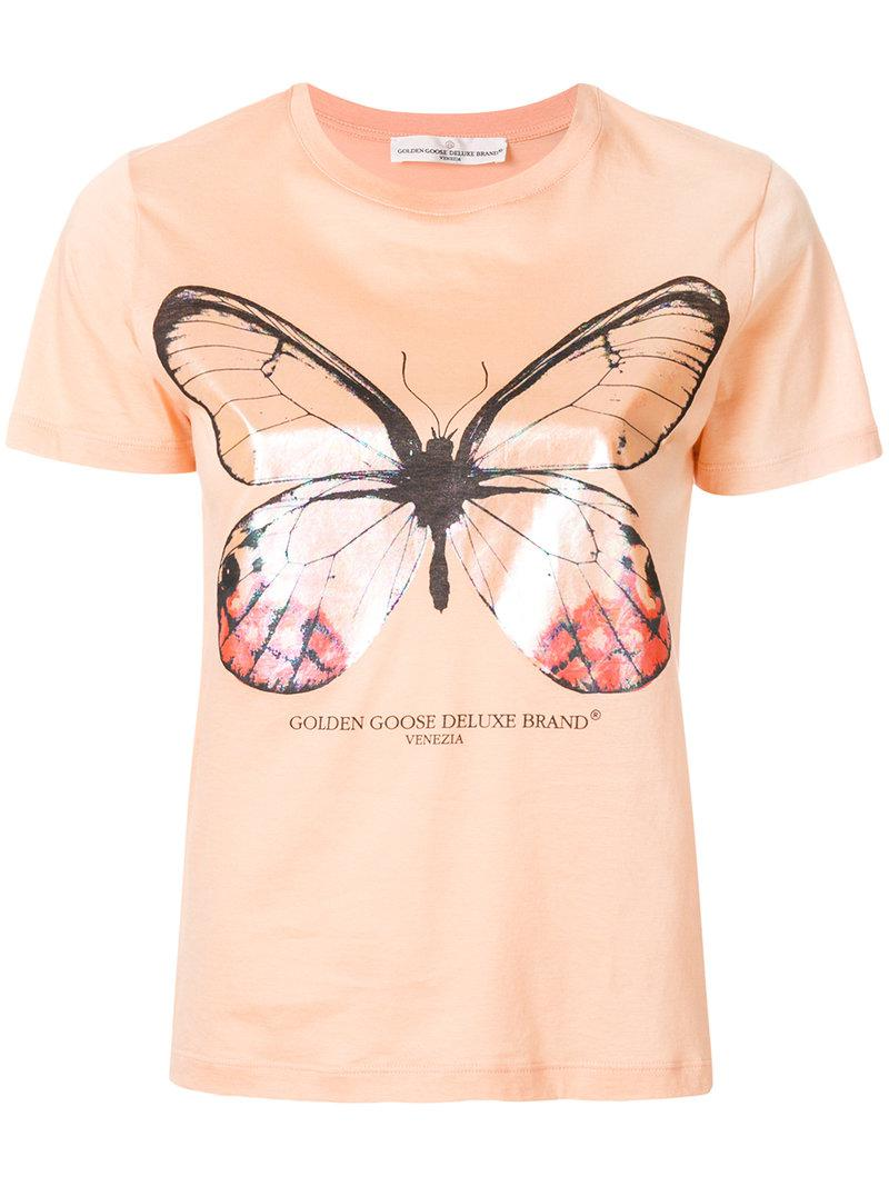 Outlet Very Cheap Extremely For Sale Cherry T-shirt - Yellow & Orange Golden Goose 5buom