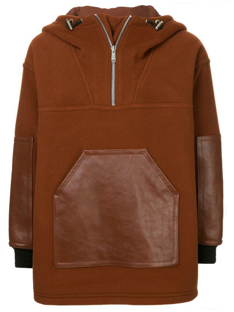 Jacket Panelled Hooded 1881 Cerruti Brown Men's fnqxXg