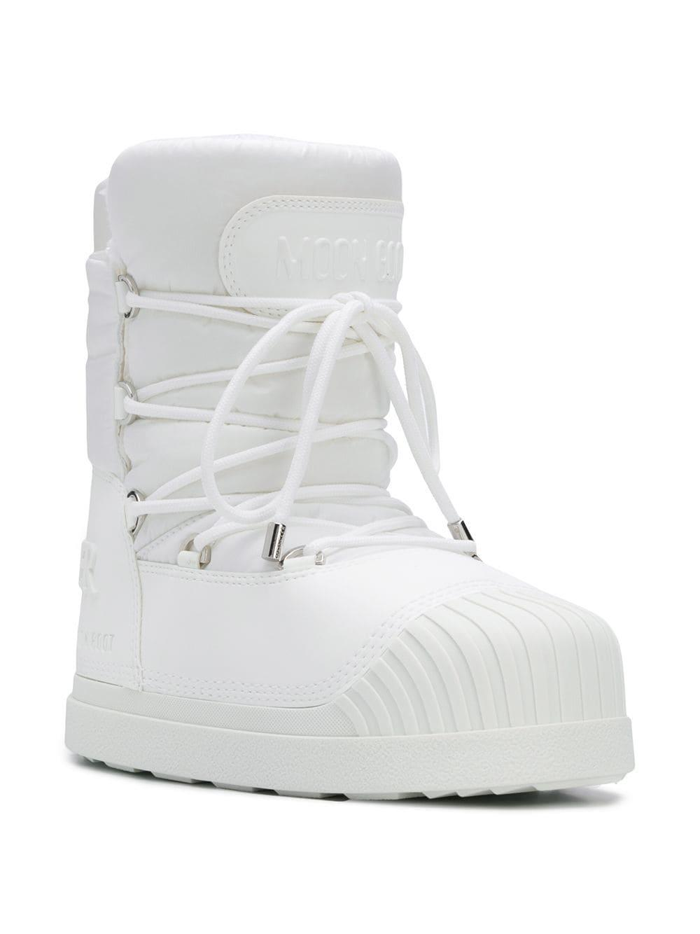 141fc2eebf89 Lyst - Moncler Lace-up Moon Boots in White - Save 23%