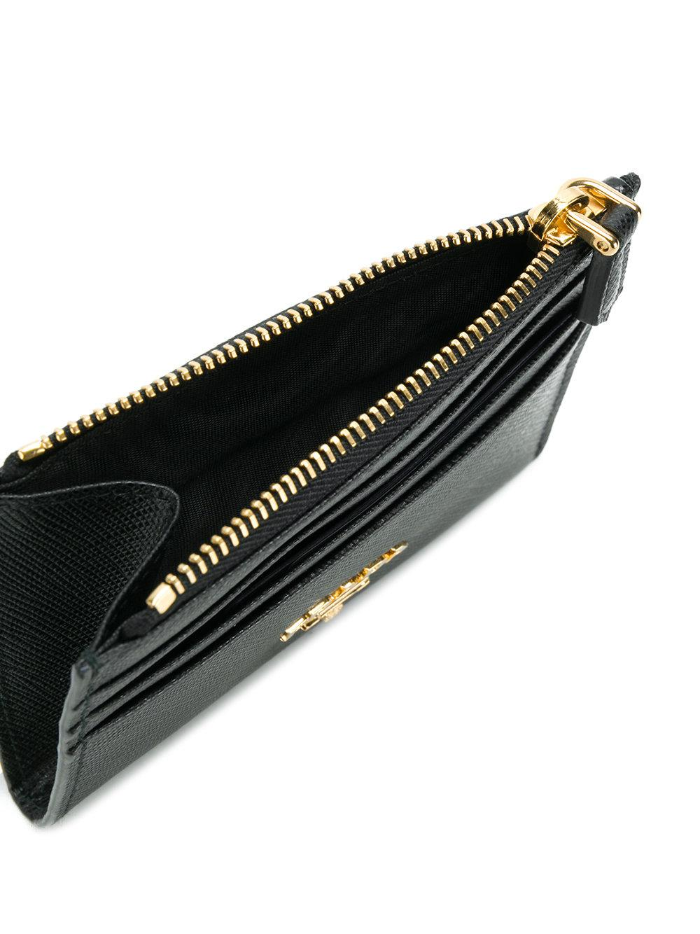 4618955e3b76 hot prada card holder 1m0208 black saffiano calf leather 57fc3 a684e; promo  code for lyst prada saffiano zip cardholder in black 2d546 2563f