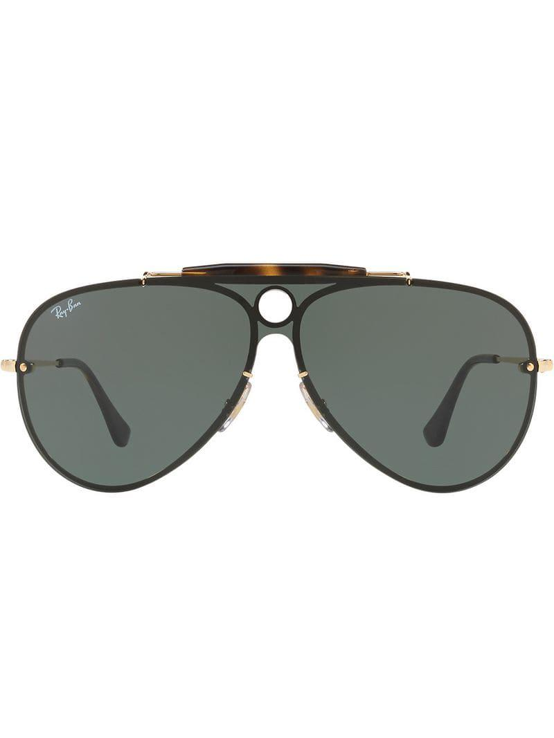 a06410ffc9d Ray-Ban Blaze Shooter Sunglasses in Metallic - Lyst