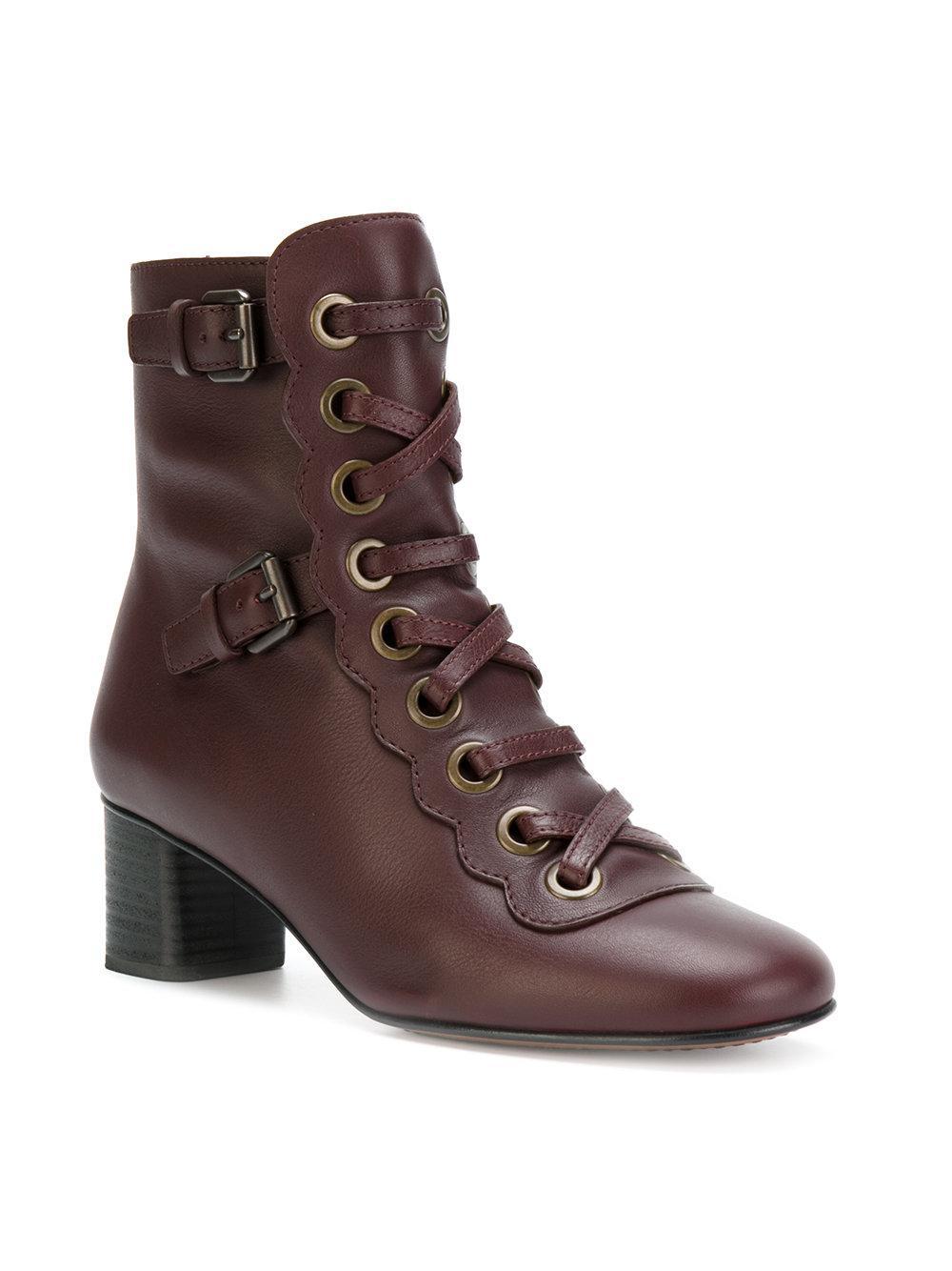 Orson lace-up boots - Pink & Purple Chlo�� kX6amLx