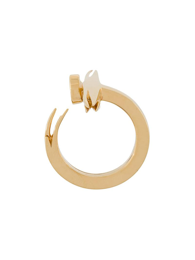 Kasun London nail ring - Metallic oOJBby2
