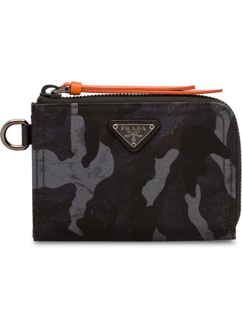 Prada - Black Printed Nylon Wallet for Men - Lyst. View fullscreen e980791963055