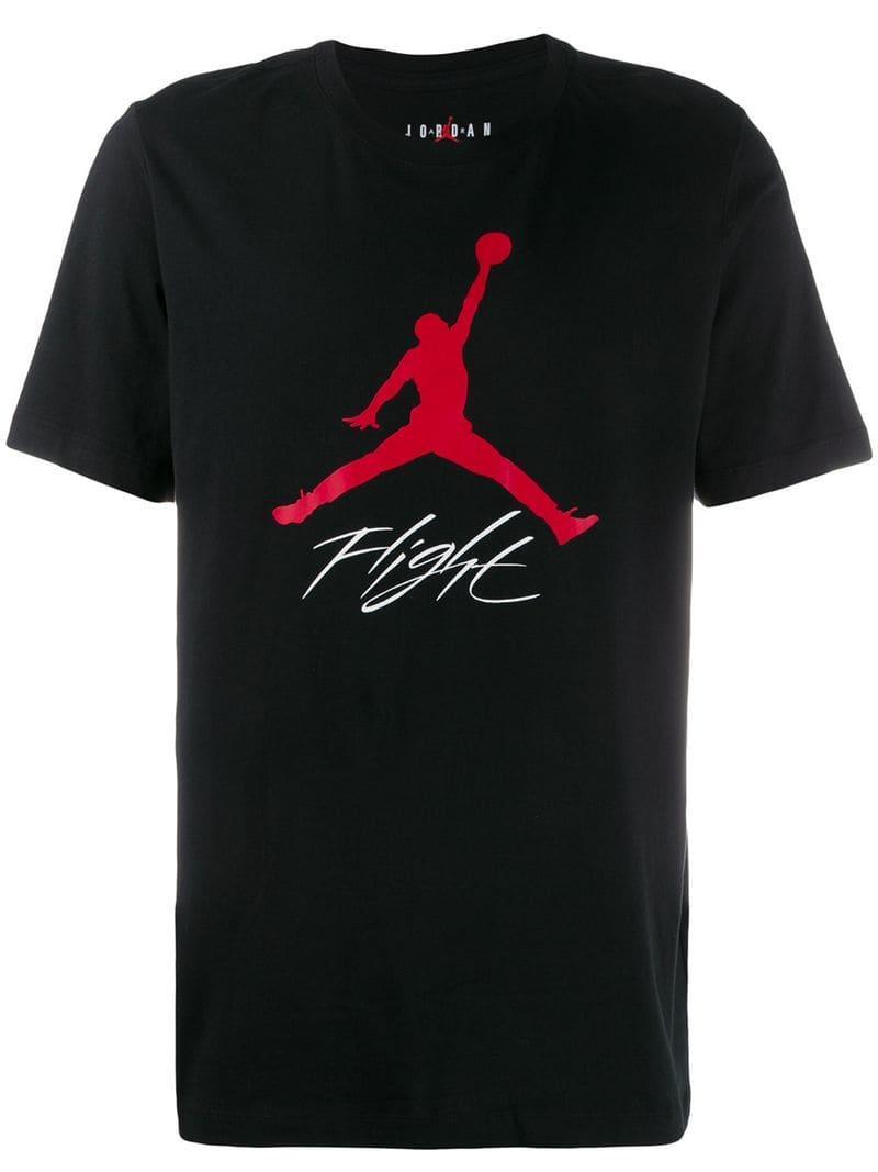 c32f39e7e9f1 Nike Jordan Jump Man T-shirt in Black for Men - Lyst