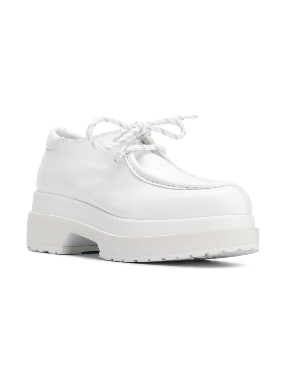 522e7bbdcb9 Lyst - MM6 by Maison Martin Margiela Chunky Lace-up Shoes in White