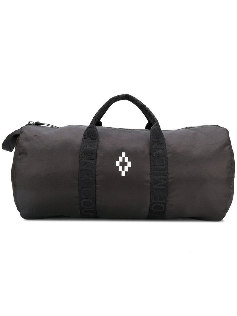 12fa9fe516af Marcelo Burlon Contrast Logo Holdall in Black for Men - Lyst
