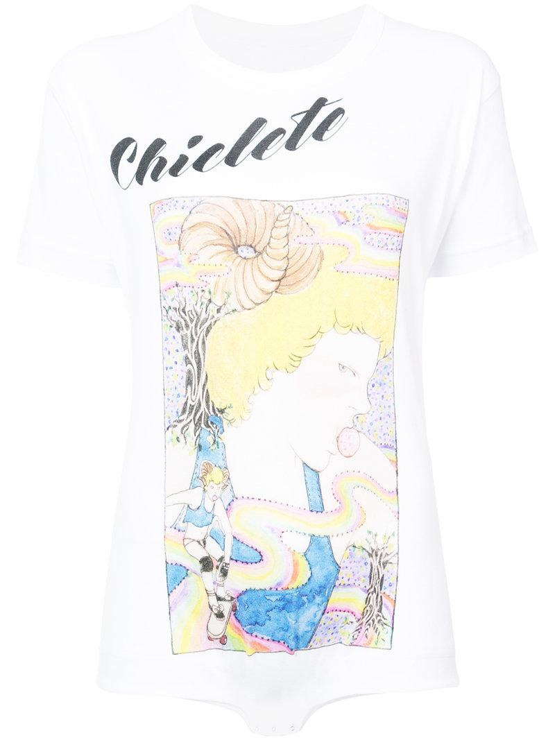 Chicete T-shirt bodysuit - White NEITH NYER Shop Cheap Price Discount Amazon Buy Cheap New Styles Top Quality Cheap Price OXWUPd