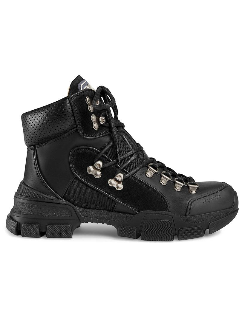 8jyaW90ruT Leather and canvas trekking boots pW5zEfk