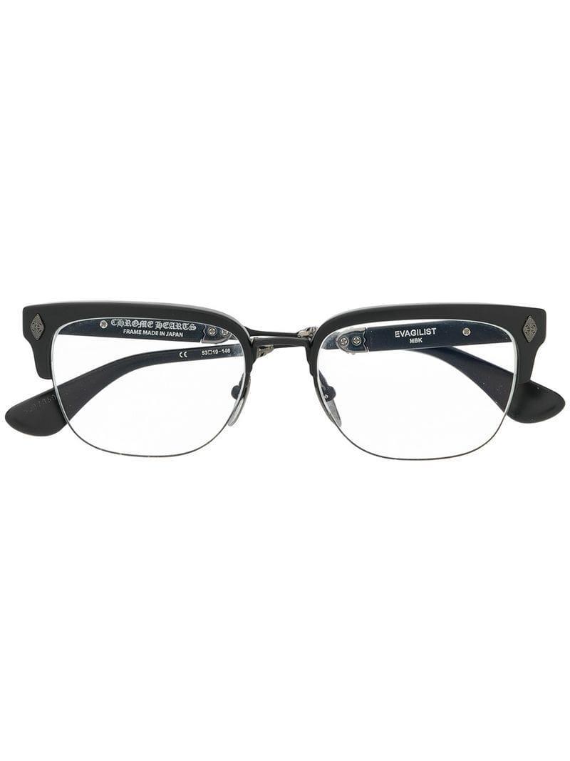 e36f832bdd1f3 Chrome Hearts Evangelist Glasses in Black - Lyst
