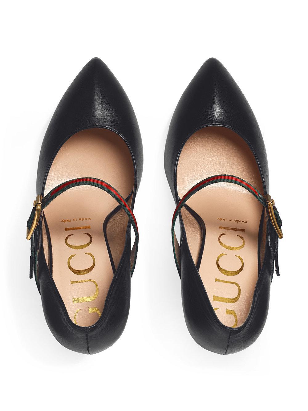 c9860256 Gucci - Black Zapatos de tacón medio Sylvie - Lyst. Ver en pantalla completa