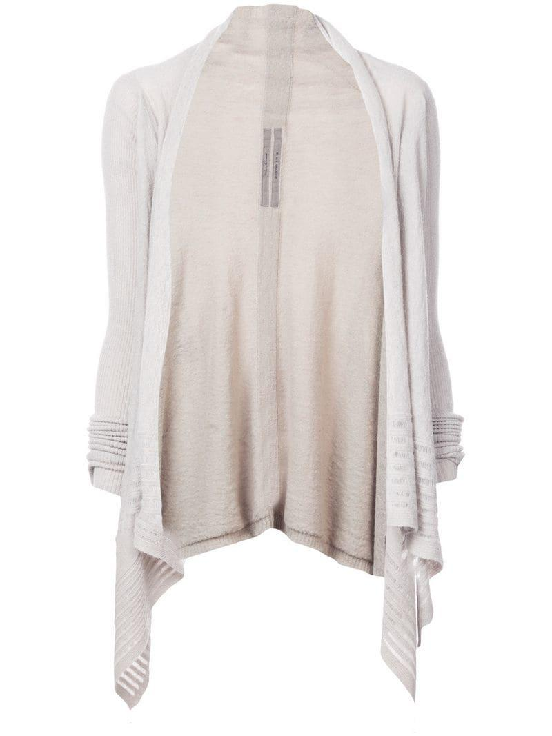 Rick Owens Draped Cardigan in Gray - Lyst 9dcde5057
