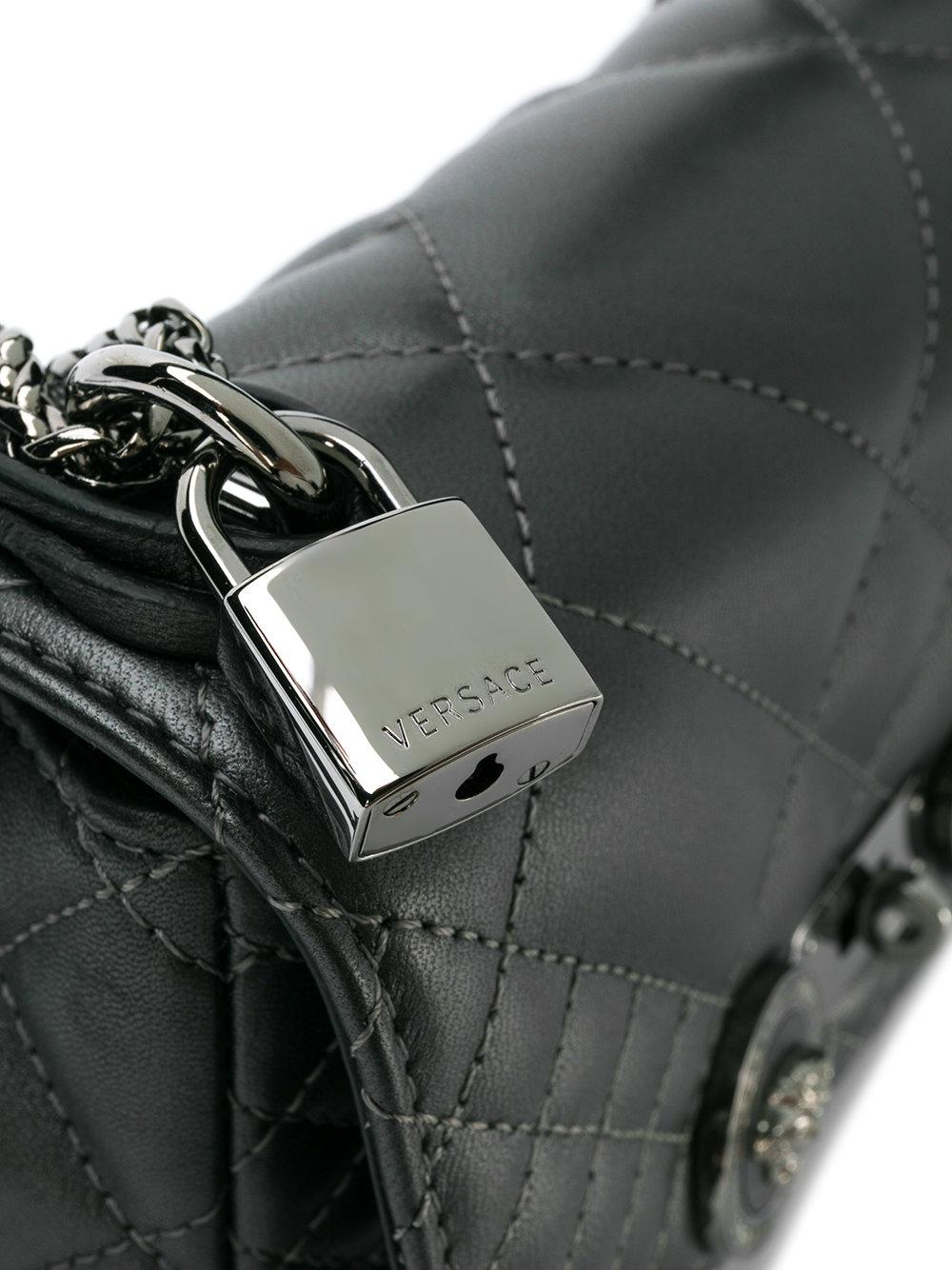 Versace - Gray Quilted Medusa Shoulder Bag - Lyst. View fullscreen d4b1eef070