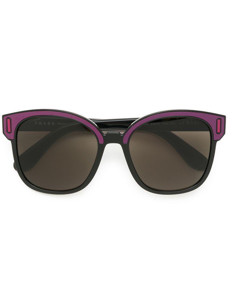 8d1eef001e2 Prada - Pink Colourblock Square Sunglasses - Lyst. View fullscreen