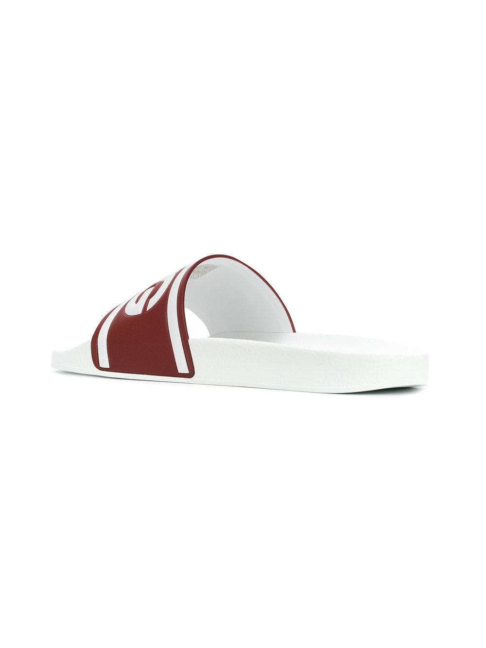 e7992e2a0 Dolce   Gabbana Logo Slides in White for Men - Lyst