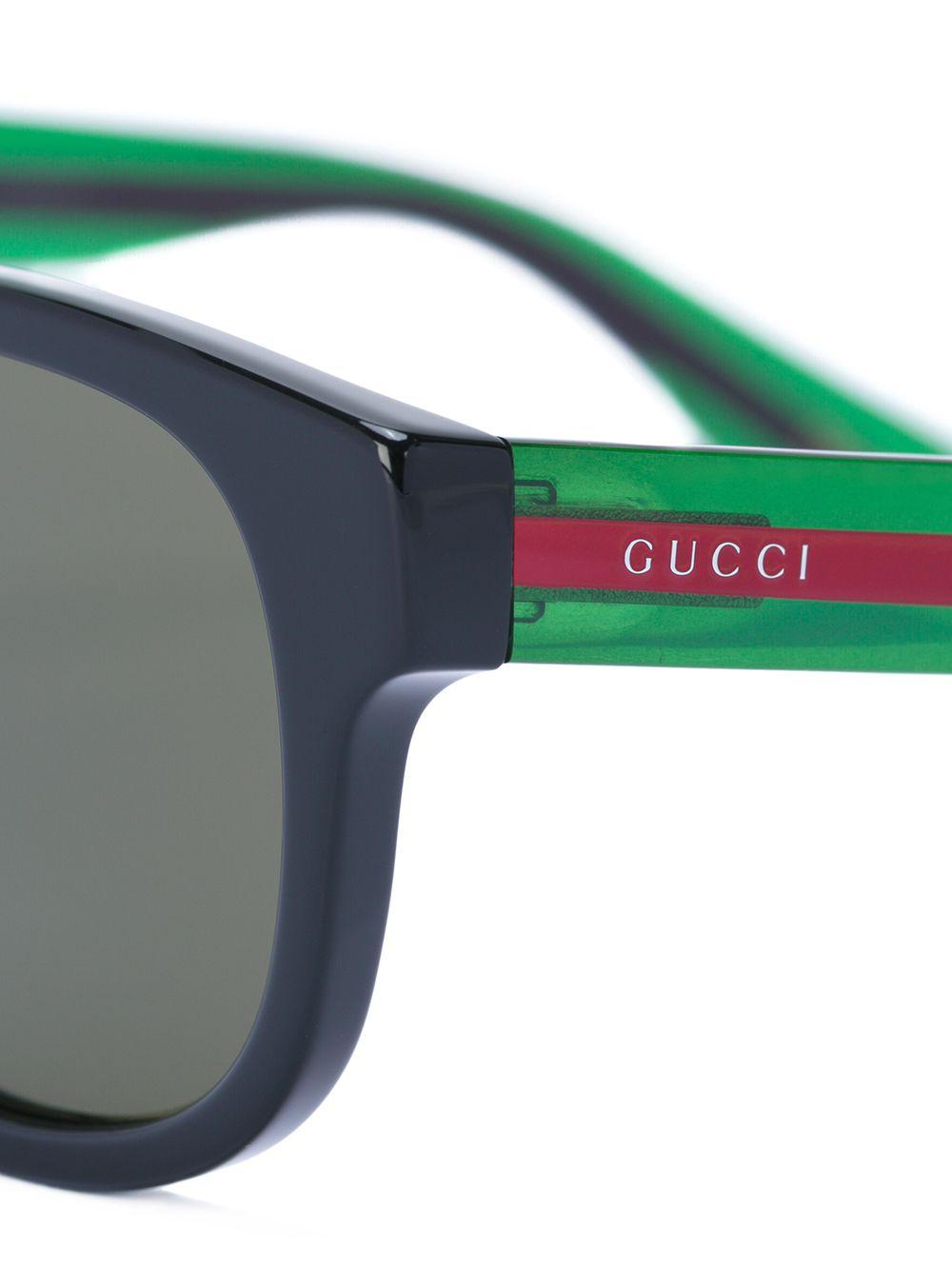 Gucci - Black Lunettes de soleil à monture carrée for Men - Lyst. Afficher  en plein écran 8b7acb201fc5