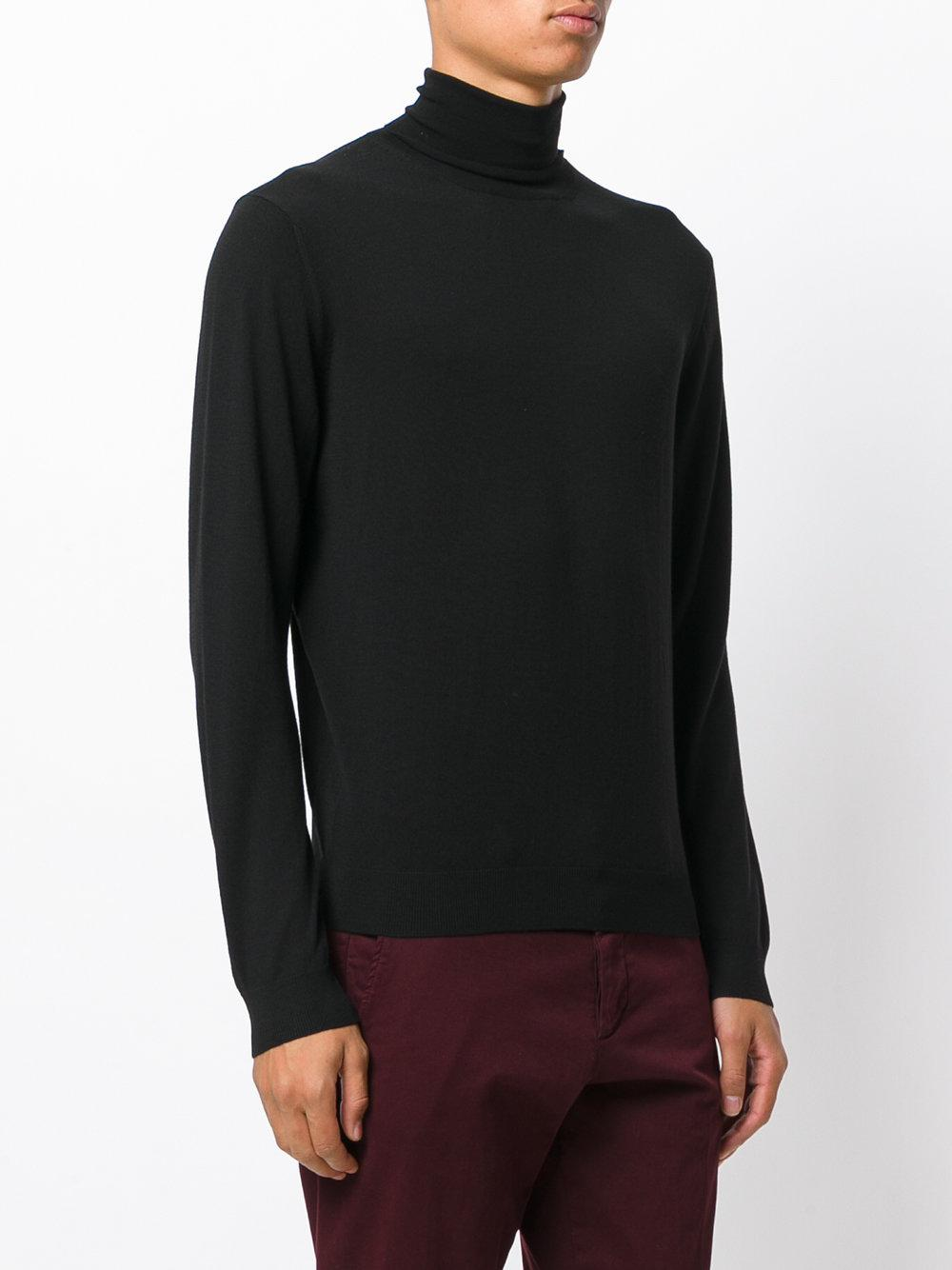 roll-neck jumper - Blue Fashion Clinic Timeless
