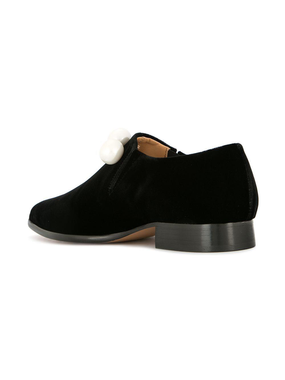 421d866bed8 ... Black Embellished Loafers - Lyst. View fullscreen