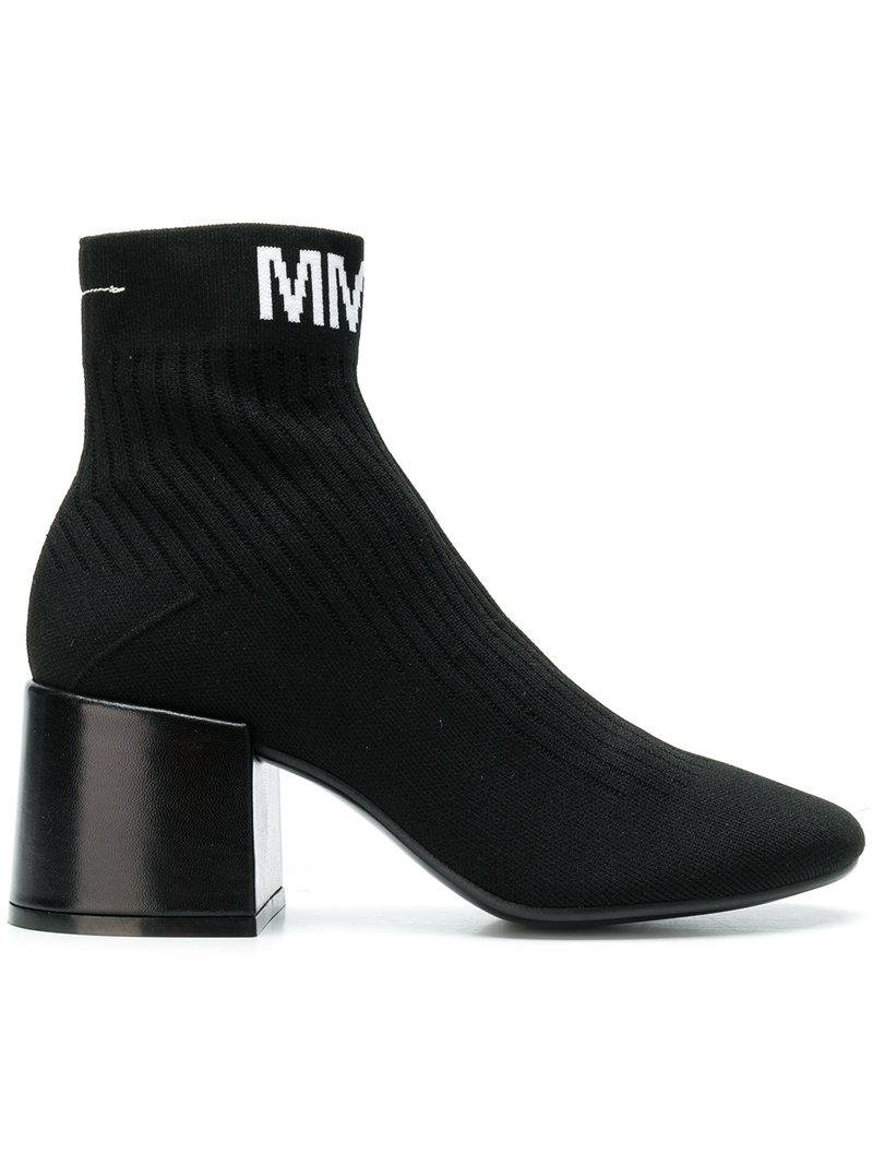 Mm6 Maison Margiela logo ankle boots sale genuine 4eFTnqJ0zP