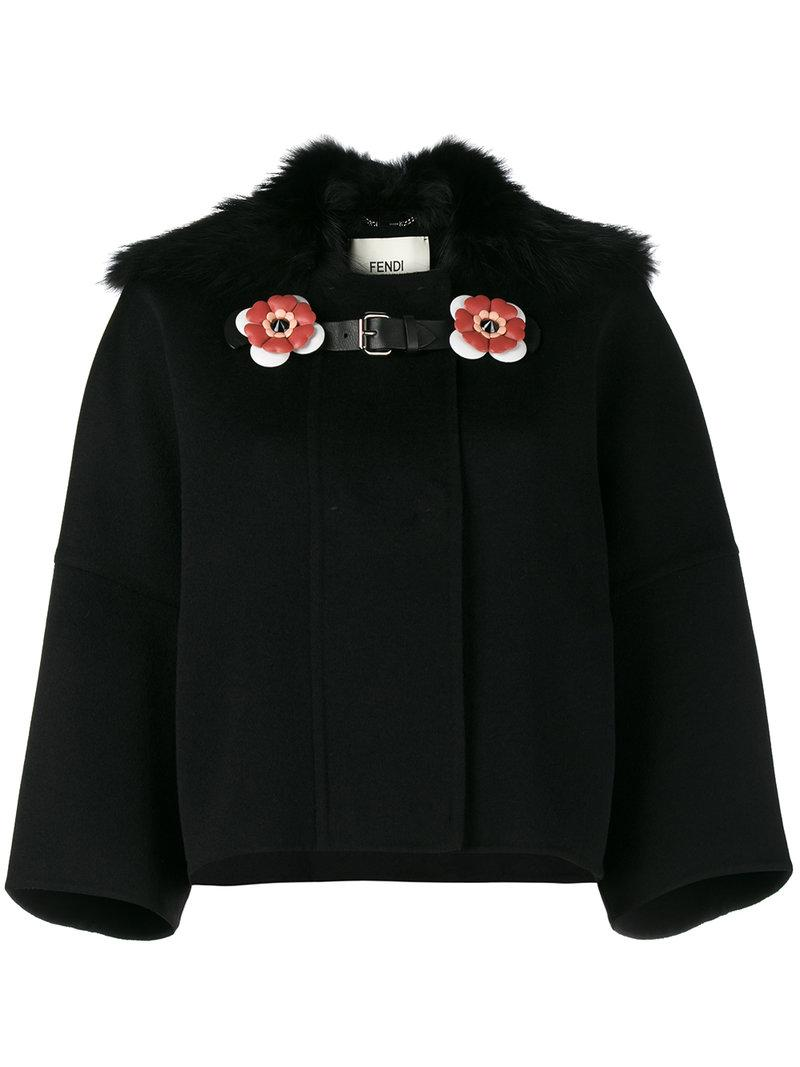 Black Collar Fendi Fox Black Fendi Lyst Fox Collar PHpxFq