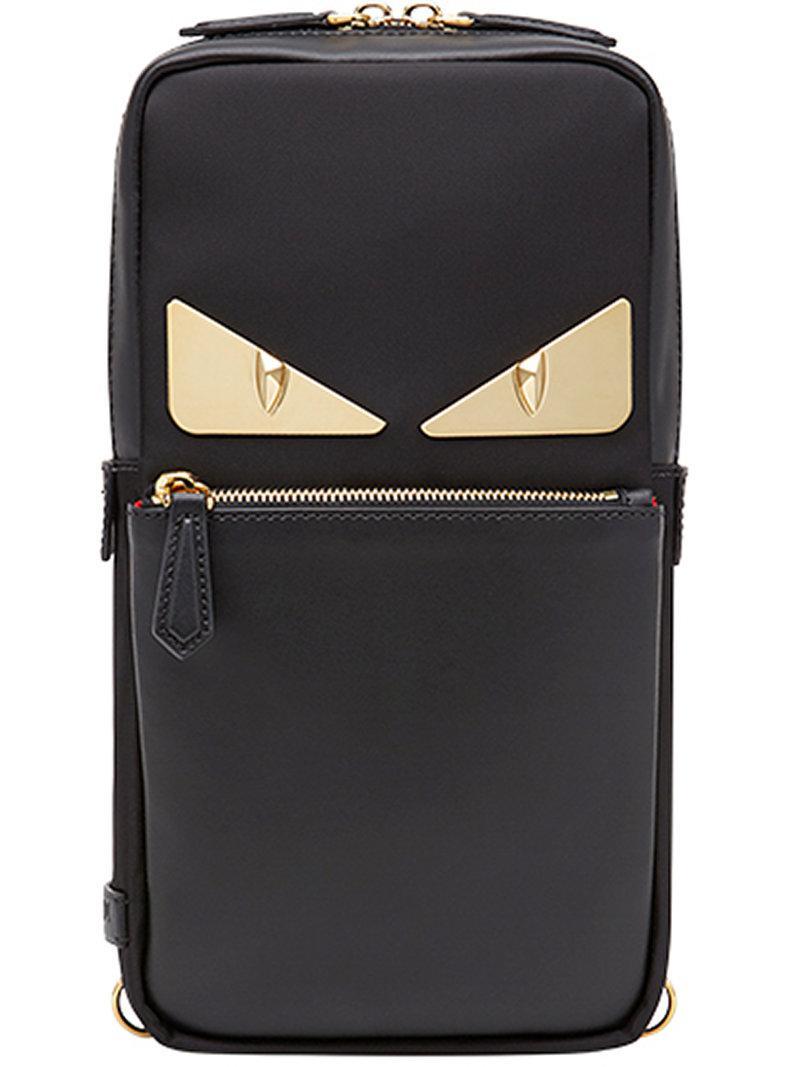 c201e54dbfa5 Fendi Bag Bugs One-shoulder Backpack in Black for Men - Lyst