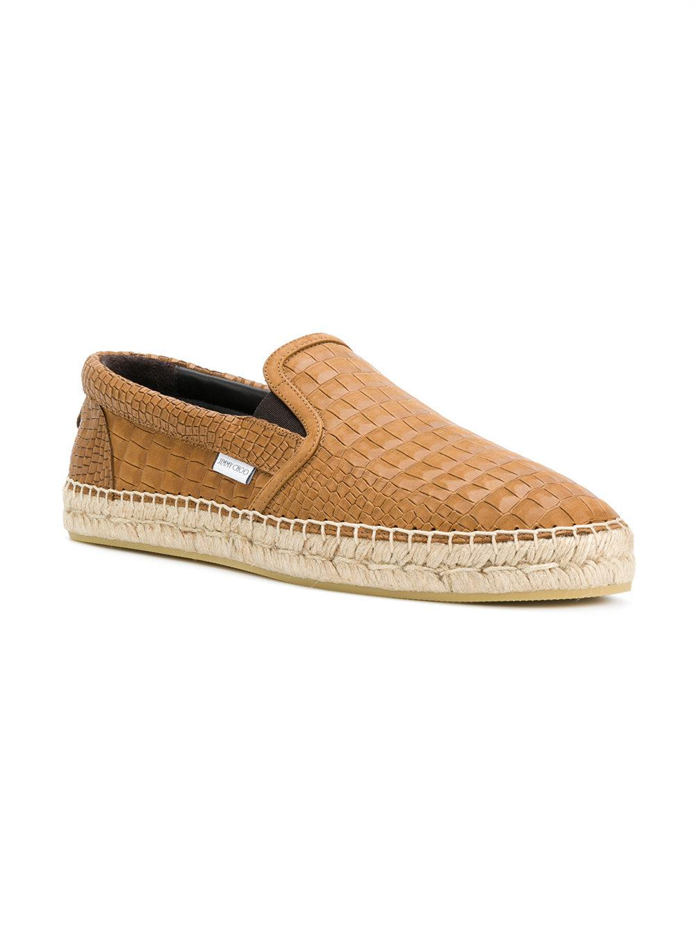 a4f49d214e25 Lyst - Jimmy Choo Vlad Crocodile Embossed Espadrilles in Brown for Men