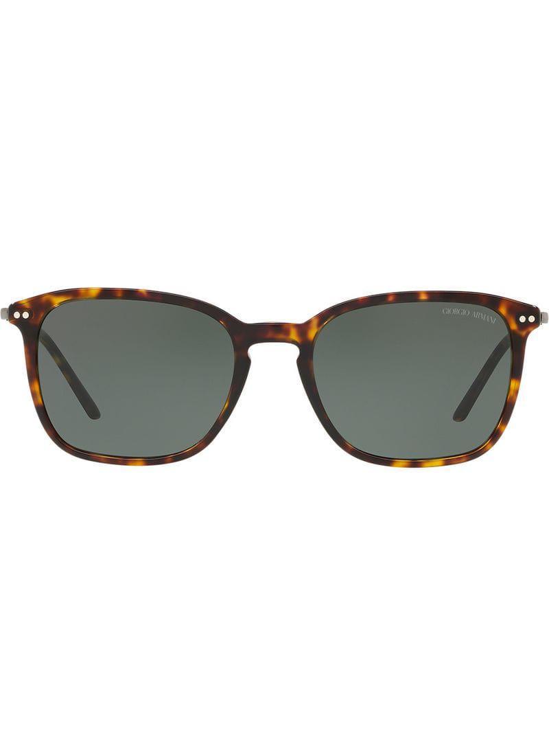 e4499201b1 Giorgio Armani Tortoiseshell Sunglasses in Brown for Men - Lyst