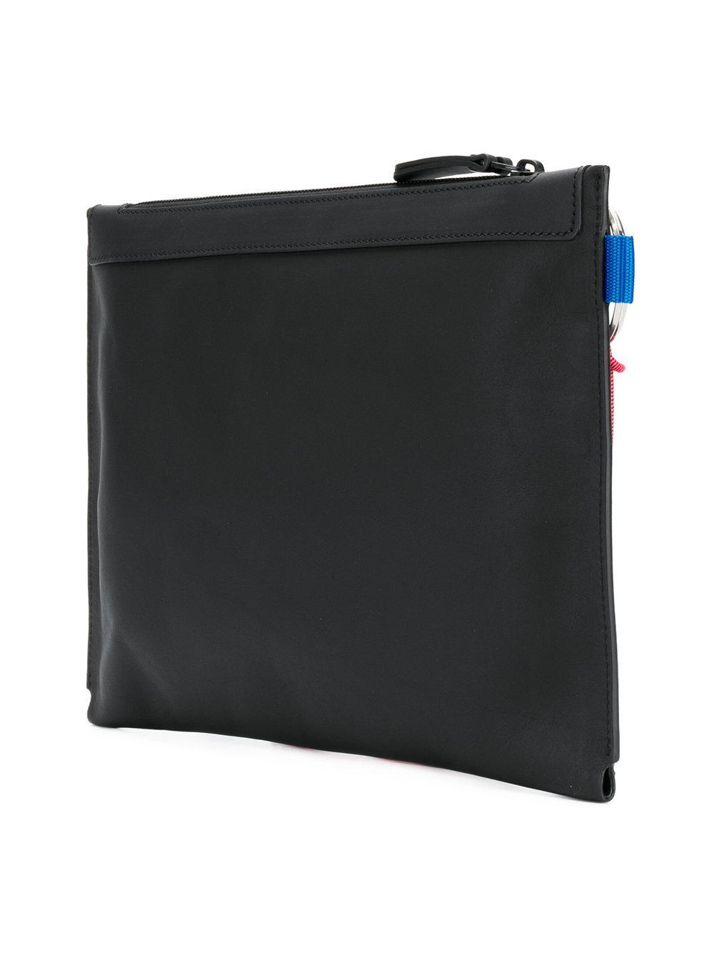 Lanvin Pochette zippée à plaque logo 2Edu0w1tlm