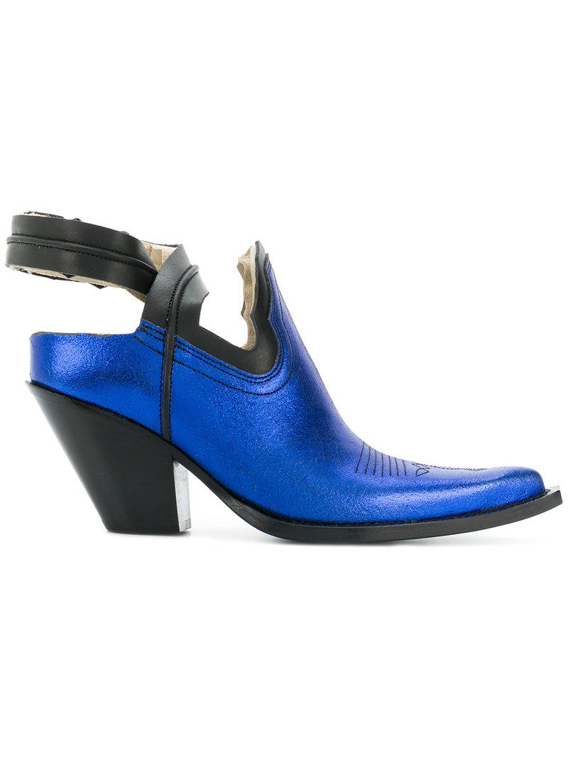 Good Selling Amazon Cheap Online pointed sling-back pumps - Blue Maison Martin Margiela Pre Order Online The Best Store To Get WJMZk3