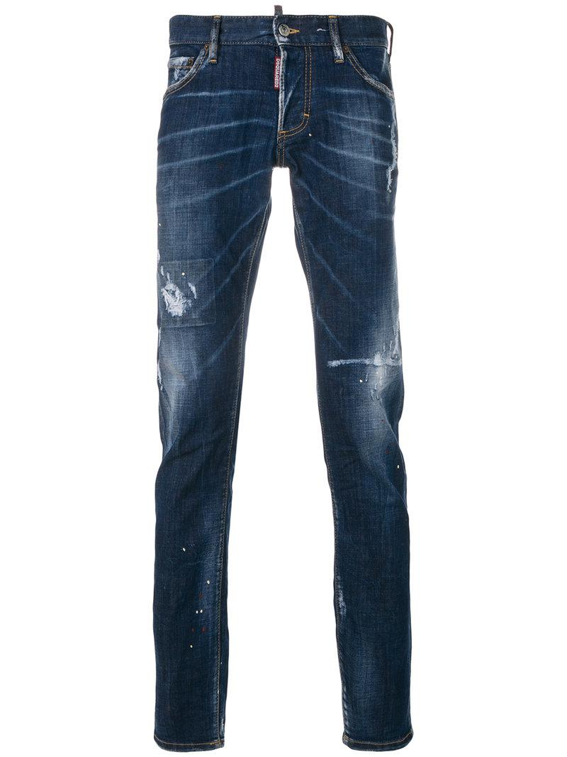 588a2961e2b Lyst - DSquared² Spray Cool Guy Jeans in Blue for Men