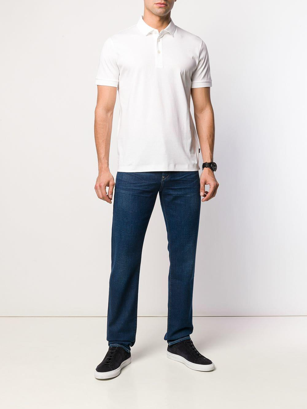 bfe33376 BOSS Prout Polo Shirt in White for Men - Lyst