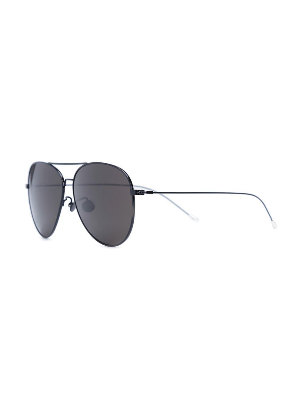 0fe3f85f297 Lyst - Linda Farrow X Ann Demeulemeester Aviator Sunglasses in Black