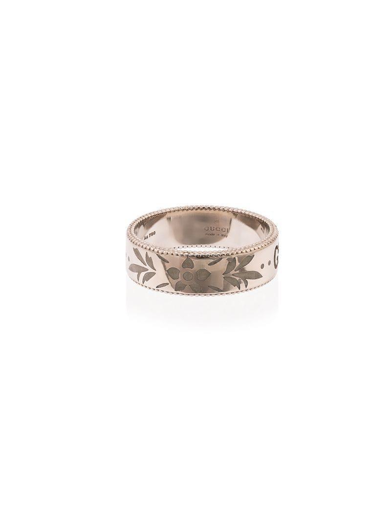 2c18c4a4ddf7 Lyst - Gucci GG Ghost Ring in Metallic
