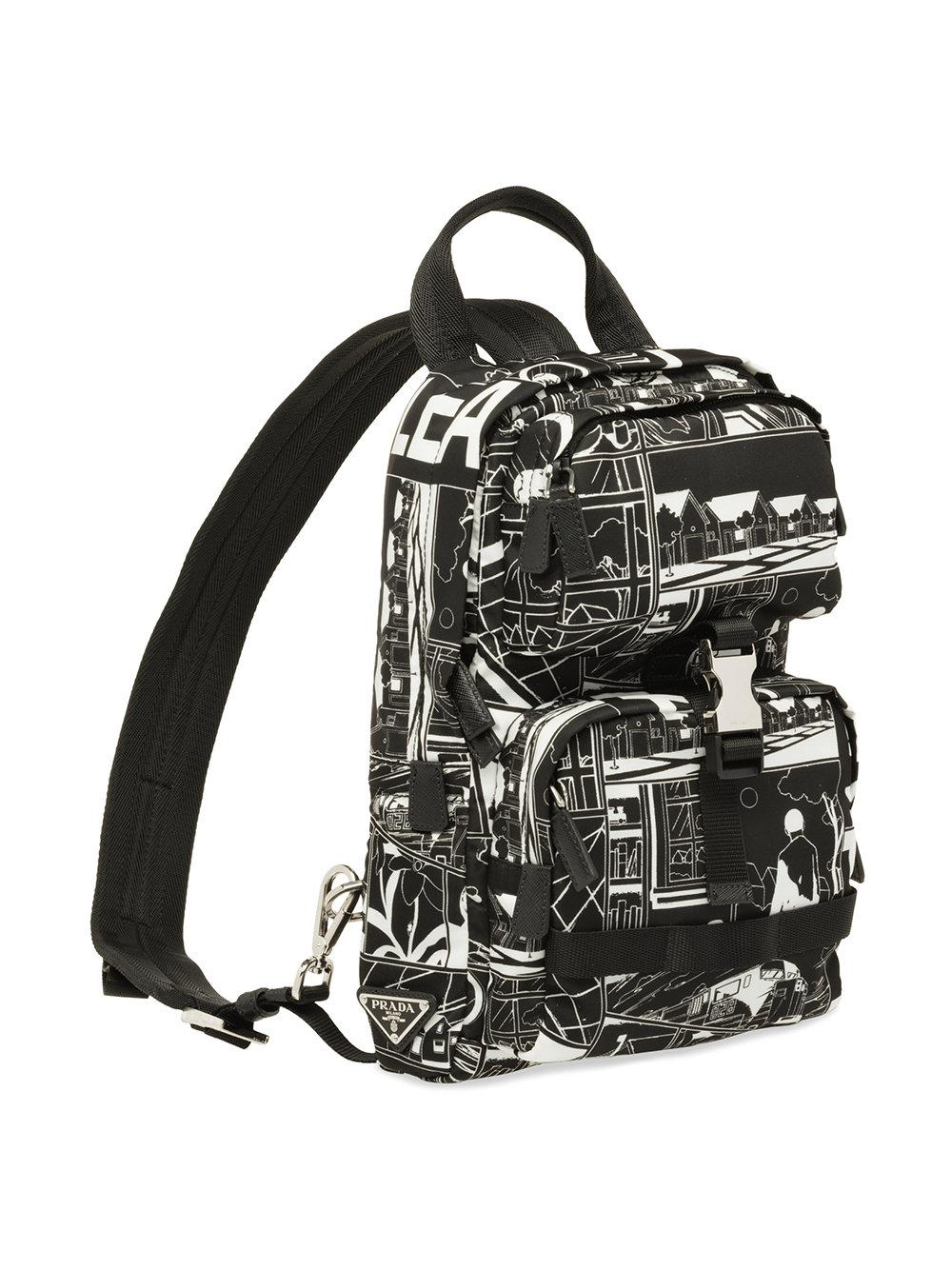 Prada Printed one shoulder backpack Best Place Online Buy Cheap Looking For New Cheap Online Order Cheap Online Lowest Price Cheap Online qGb9qrZoO