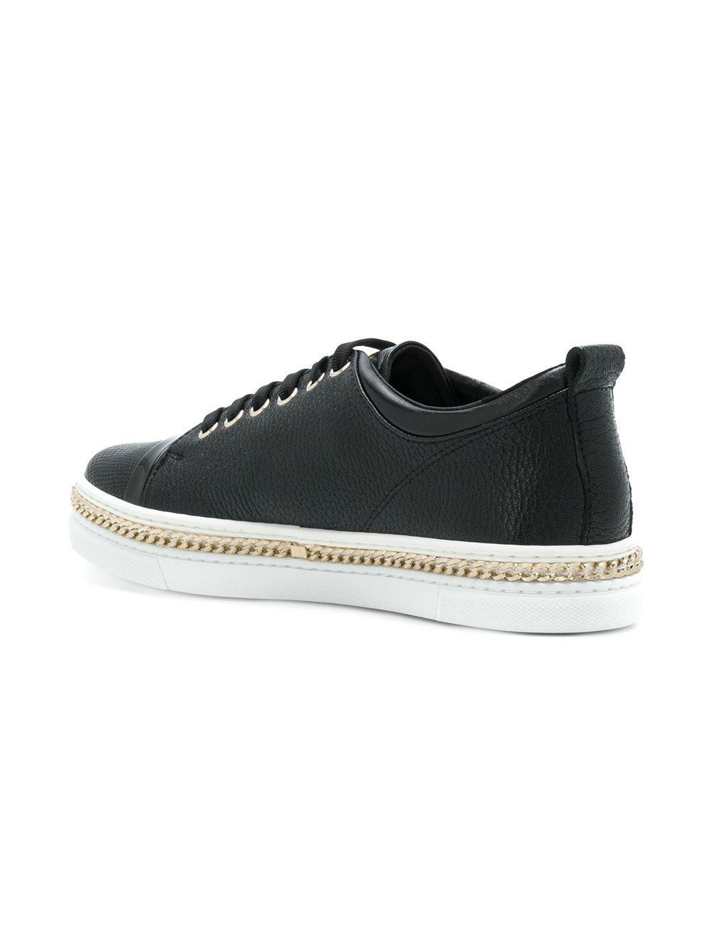 Lanvin Black Chain Reaction Sneakers zzgt69