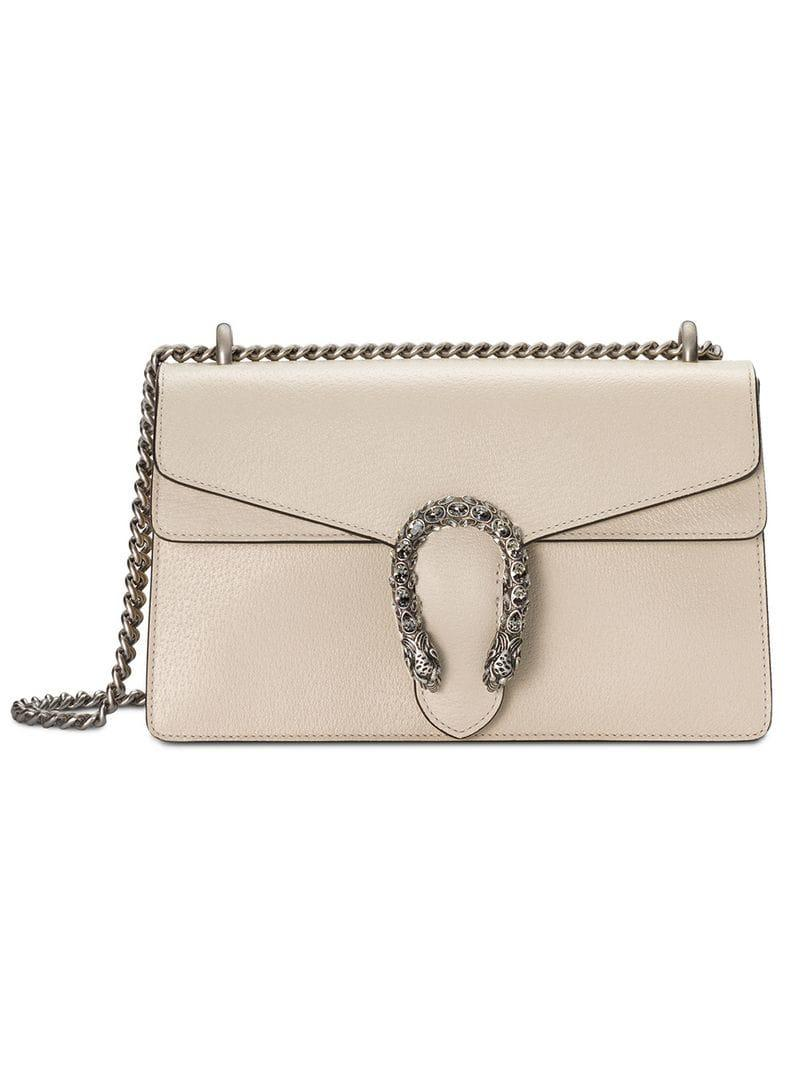 886bde0229d Lyst - Gucci Dionysus Small Shoulder Bag in Natural